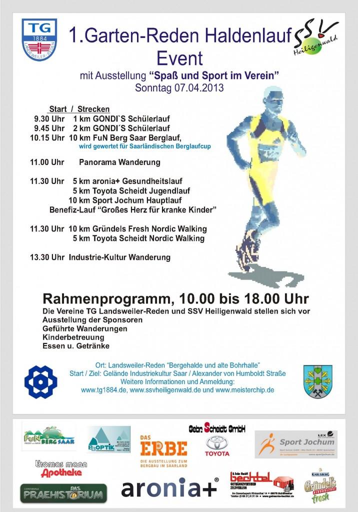 Plakat Haldenlauf 2013