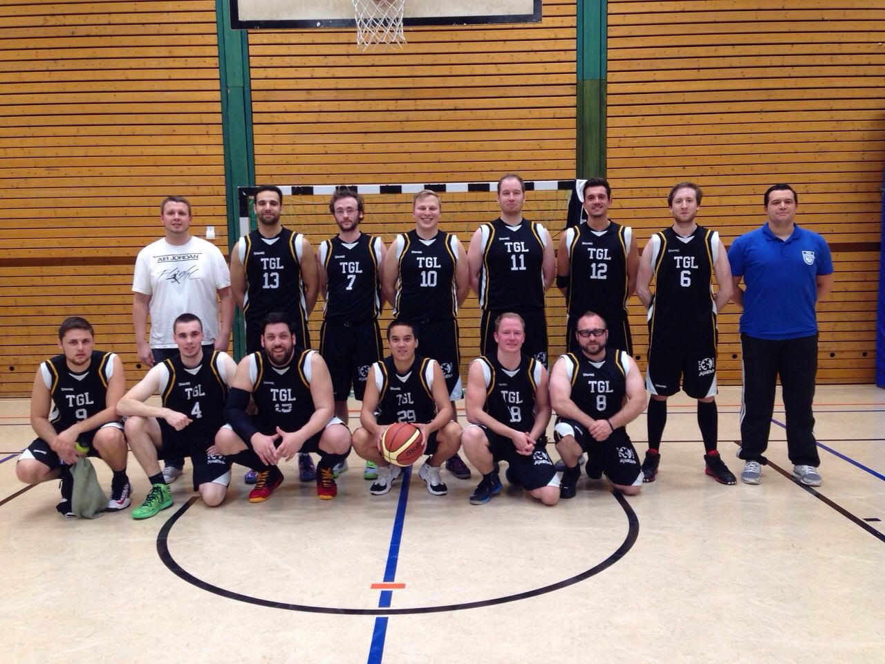Die zweite Herrenmannschaft beim Sieg gegen die Nordsaar Baskets